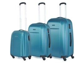 Zestaw trzech walizek PUCCINI ABS02 ABC turkusowy